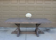Farmhouse Table Build - Frills and Drills Farmhouse Table, Breakfast Nook Table, Table, Farm Style, Restoration Hardware Inspired, Farmhouse Table Base, Table Base, Kitchen Dinning, Dining Table