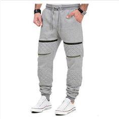 2018 Neue Marke men Hosen Hip Hop Harem Jogger hosen men Hosen Mens Jo – geekbuyig Mens Jogger Pants, Gym Pants, Sport Pants, Harem Pants, Soccer Pants, Joggers With Zippers, Hip Hop, Slim Fit Trousers, Plus Size Pants