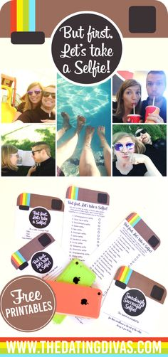Selfie Scavenger Hunt with FREE Printables such a fun and easy date idea!