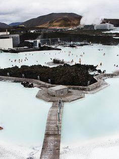 Geothermal Spa, Blue Lagoon, Grindavik Iceland.