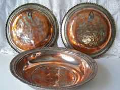 Antique Turkish Copper Hanging Plates by cynthiasattic on Etsy, $59.00