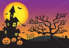 Convite DE Halloween Com Casa Assombrada clip arts - ClipartLogo.com