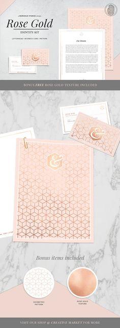 ROSE GOLD Theme   Identity Kit by Marigold Studios on @creativemarket