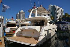 Ferretti #Yachts on display at the #MiamiBoatShow 2015, 12-16 Feb 2015. #luxury #ferretti #yacht #MadeInItaly #Mybs2015