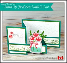 Stampin Up Jar of Love Double Z Card - Stampin With Sandi - Canadian Stampin Up Demonstrator