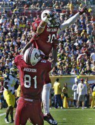 South Carolina beats Michigan in Outback Bowl (AP Photo/Chris O'Meara)