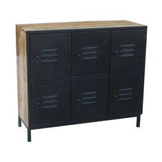 lockerkast mangohout zwart breed Filing Cabinet, Lockers, Locker Storage, Furniture, Home Decor, Decoration Home, Room Decor, Locker, Home Furnishings