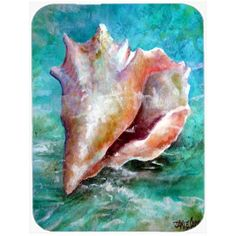 Caroline's Treasures Caroline's Treasures The Jewel of the Sea Shell Glass Cutting Board