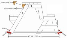 detail plan of the picnic table stop pieces