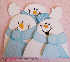 Snowmen Easel Card Tutorial
