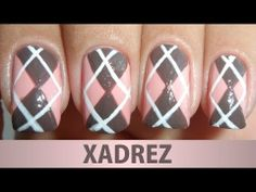 Unhas Decoradas - Xadrez - YouTube