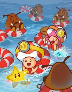 Captain Toad Ocean Adventure! by inki-drop.deviantart.com on @DeviantArt