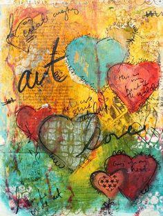 Art Journal Page   Art journaling