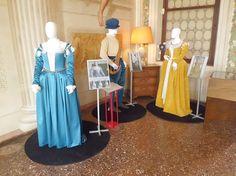 Il percorso nella storia del costume della seconda metà del Cinquecento inizia da questi tre abiti indossati da tre personaggi tratti dagli affreschi di villa Barbaro. I