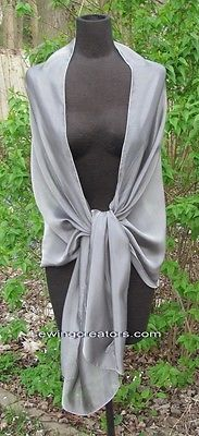 Wraps and Jackets 105472: Elegant Sheer Silver Smoke Silk Chiffon Evening Wrap Bridal Shawl Prom Scarf -> BUY IT NOW ONLY: $37.99 on eBay!