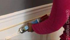 How to Install Picture Frame Moulding Wainscoting - ToolBox Divas Picture Frame Wainscoting, Beadboard Wainscoting, Wainscoting Nursery, Dining Room Wainscoting, Wainscoting Panels, Picture Frame Molding, Picture Frames, Wainscoting Ideas, Installing Wainscoting