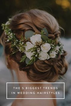 The 5 Biggest Trends in Wedding Hairstyles via @PureWow
