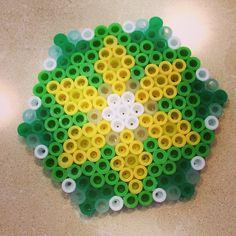 Daisy flower perler beads by crazy4perler_beads