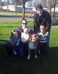Gemma has taken a big step into her new life with a new family! She'll have 3 little kids, 2 parents, a min-pin fur brother and an active life. Thank you so much for adopting Warmouth family!