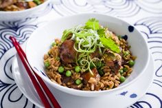 Hoisin chicken and coconut rice main image