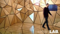 Geometric Cardboard Wall Decoration