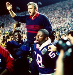 Bill Parcells - Born Duane Charles Parcells, led the Giants to Super Bowls XXI and XXV victories and NFL Coach of the Year 1994 was born in Englewood, New Jersey. New York Giants Football, Nfl Football, Football Players, American Football, Nfl Coaches, Sports Teams, Bill Parcells, Lawrence Taylor, Coach Of The Year