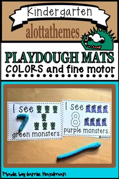 Students will love using play dough any chance they get! They will be super excited with these play dough mats to practice color words. Great fine motor development too! Kindergarten Themes, Kindergarten Activities, Motor Activities, Alphabet Activities, Language Activities, Early Childhood Activities, July 11, Play Dough, Number Sense