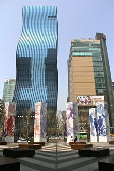 GT Tower - Gangnam, Seoul, South Korea. Korea isn't known for impressive architecture...I say: What's not impressive about this glass building in Gangnam?
