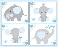 Yellow and Grey Gray Elephant wallpaper border wall art decals for baby boy or neutral safari jungle animal nursery decor. Add matching wall art prints and baby& first year scrapbook pages. One set includes four sticker sheets. Elephant Nursery Decor, Mint Nursery, Nursery Decals, Baby Nursery Decor, Animal Nursery, Baby Bedroom, Nursery Prints, Bedroom Kids, Wall Decals