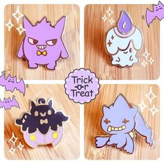 View Accessories by uglyplants on Etsy Baby Pokemon, Ghost Pokemon, Pokemon Pins, Cute Pokemon, Pokemon Dolls, Ghost Type, Cool Pins, Creepy Cute, Pin And Patches