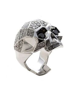 Forziani Urban Jedi Skull Rings for Men in Silver - Gift for Him - Size 9