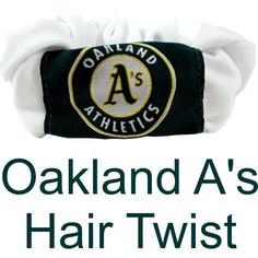 MLB Oakland A's Athletics Hair Twist Scrunchie (Hair Wear With Attitude)