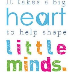 """It takes a big heart"" #teacher sign"
