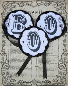 Halloween Project and Printable - Boo Garland Tutorial From Karen Watson of The Graphics Fairy Blog