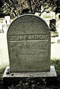 Susan B. Hope Cemetery, Rochester, NY I've drove by this cemetery several times never knew she rested there Cemetery Monuments, Cemetery Statues, Cemetery Headstones, Old Cemeteries, Cemetery Art, Graveyards, Famous Tombstones, Concord, Famous Graves