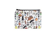 Studio Ghibli Wallet / Totoro Doodles Zipper Pouch / Camera Bag in Calcifer Kiki Ponyo Mononoke by thepurplehedgehog $10