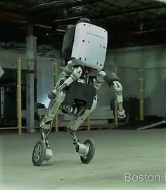 We already knew Handle could manage some pretty sick hurdles and spins, but the new video shows us how the robot can operate in tough environments — on hills, in the snow and over uneven terrain. It's able to do this with a height of 6.5 feet that surpasses that of most humans. On wheels, it can move at a chipper nine mph and manage four-foot vertical jumps. If you're wondering, the highest human jump ever recorded is 5.3 feet. (Take that Handle!)