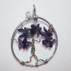 Jewelry handmade wire wrapped pendant ooak Tree by WireWrapJewels, $19.75