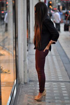 New fall piece - maroon pants