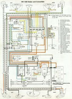 '66 and '67 VW Beetle Wiring Diagram
