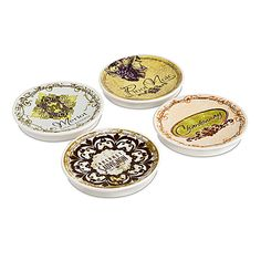 Image detail for -Touch Of Toulouse - Appetizer Wine Plates - The Green Head