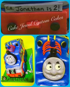 Thomas the train sculpted cake, chocolate and vanilla cake