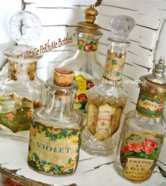 Old perfume bottles