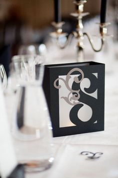 Table Number Luminaries - Wedding Centerpiece - Black White Gray Decorations - Modern Paper Lantern by MinksPaperie on Etsy https://www.etsy.com/listing/108093833/table-number-luminaries-wedding