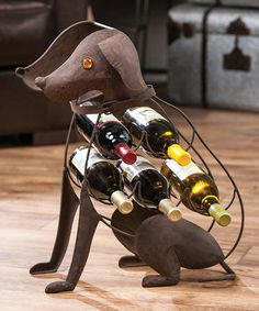 Look at this Dog Wine Rack on #zulily today!