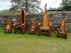 Storytelling Chairs from Wild Welsh Wood in Wales. Wales is part of the United Kingdom (I had to look it up!). After poking about on the internet a bit, I realized that Wales is a pretty magical place, there is a connection there; a kinship.