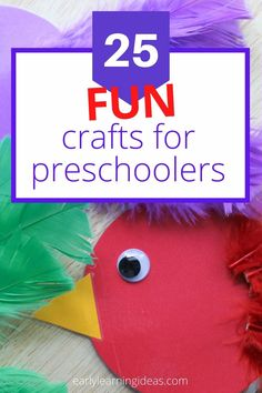 Check out 25 popular craft projects to do with kids. Use this visual library to find lots of fun activities to make with your preschoolers at home. Preschool Activities At Home, Spring Activities, Color Activities, Kindergarten Activities, Easy Craft Projects, Easy Crafts, All About Me Crafts, Bug Crafts, Teaching Colors