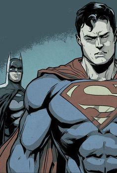 Injustice Batman and Superma by Xermanico