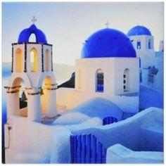 Greek Church Domes, Ceramic Tile Coasters, set of 4 Ceramic Coasters, Tile Coasters, Cruise Travel, Cruise Vacation, Italy Vacation, Venice Travel, Best Cruise, Santorini Greece, Blog Voyage
