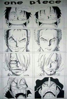 Luffy, Zoro, Sanji & Usopp Before and After